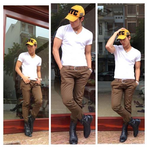 Vũ Tuấn Việt bảnh bao với quần kaki 500 ngàn - 5