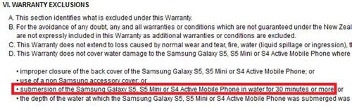 Xác nhận Galaxy S5 Mini có tính năng chống nước - 1
