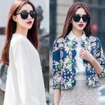 Thời trang - Gu ăn mặc nữ tính của hot girl Hong Kong