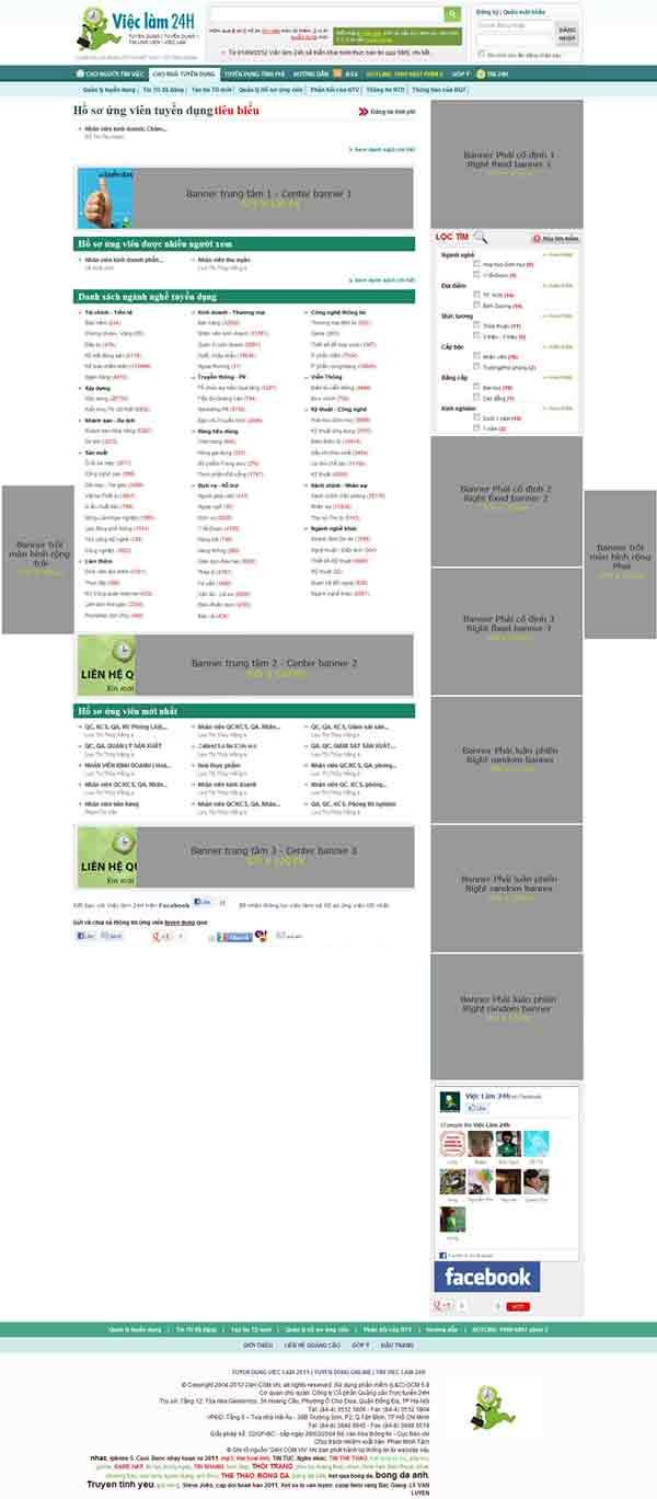 Bảng giá banner và tin tuyển dụng trang VIECLAM.24H.COM.VN - 3