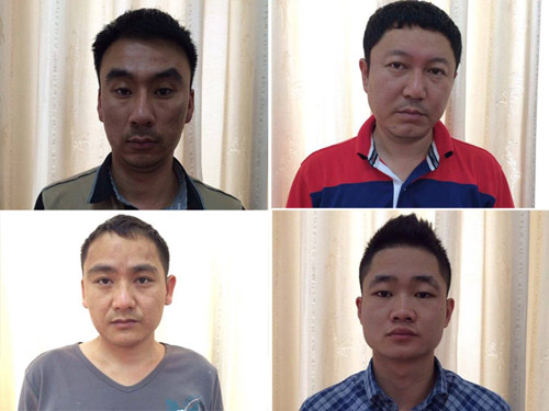 Bắt 4 người Trung Quốc sản xuất thẻ tín dụng giả - 1