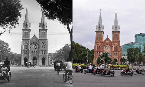 Chùm ảnh: Sự khác biệt giữa Sài Gòn xưa và nay - 6