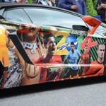 Ô tô - Xe máy - Lamborghini Aventador in hình Ronaldo, Messi đón World Cup