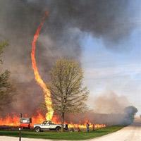 Xoáy lửa trên bầu trời Mỹ