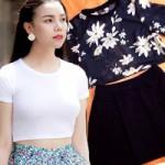 Thời trang - Mặc đẹp với áo hở eo giá 100 ngàn đồng