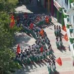 Tin Đà Nẵng - Đà Nẵng: 550 học sinh, giáo viên xếp hình bản đồ Việt Nam