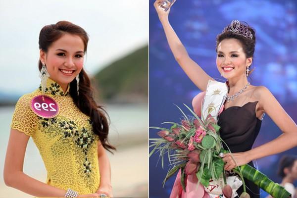 Ngắm hoa hậu Việt ở khoảnh khắc đăng quang - 11