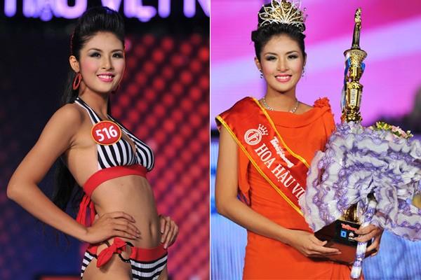 Ngắm hoa hậu Việt ở khoảnh khắc đăng quang - 10