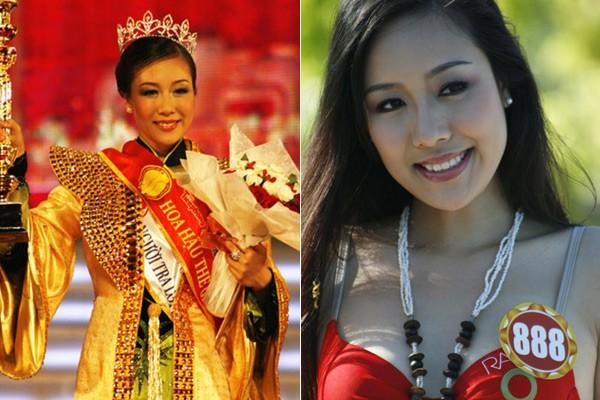 Ngắm hoa hậu Việt ở khoảnh khắc đăng quang - 8