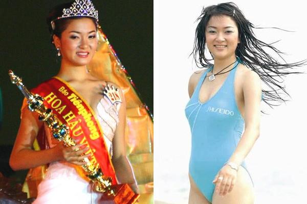 Ngắm hoa hậu Việt ở khoảnh khắc đăng quang - 5
