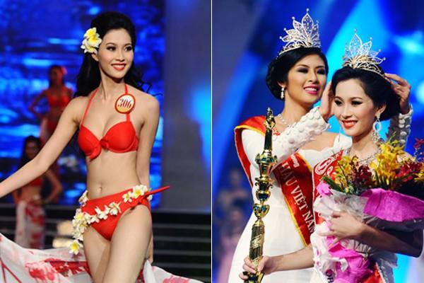 Ngắm hoa hậu Việt ở khoảnh khắc đăng quang - 12