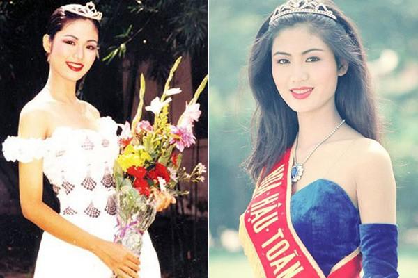 Ngắm hoa hậu Việt ở khoảnh khắc đăng quang - 2