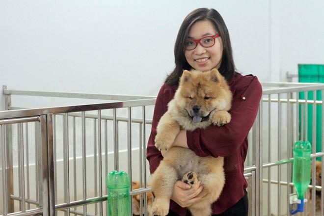 Cô gái Việt có trại chó giá ngàn đô/con - 1