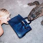 Thời trang - Người mẫu và cá sấu cắn nát túi Hermes 2 tỷ đồng