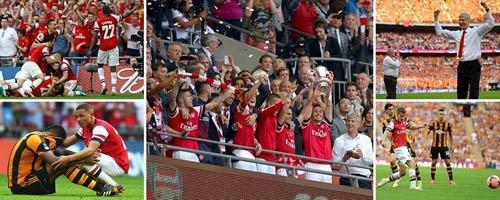 Arsenal giải cơn khát danh hiệu, Wenger tắm sâm-panh - 9