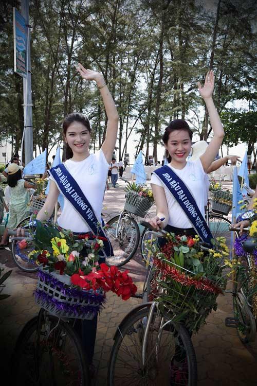 Thí sinh hoa hậu đạp xe để bảo vệ môi trường - 3
