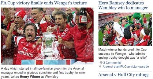 Báo Anh: Arsenal vô địch kỳ vĩ nhất sau 48 năm - 2