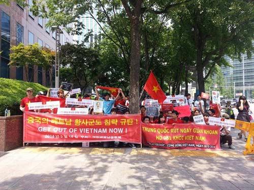 Người Việt tại Hàn Quốc biểu tình phản đối Trung Quốc - 1