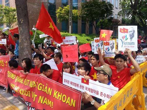 Người Việt tại Hàn Quốc biểu tình phản đối Trung Quốc - 2