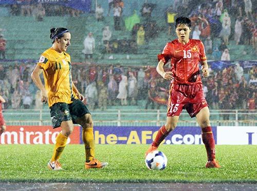 ĐT nữ Việt Nam đã thiếu may mắn trước Úc - 1