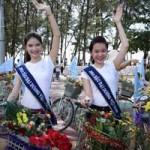 Thời trang - Thí sinh hoa hậu đạp xe để bảo vệ môi trường