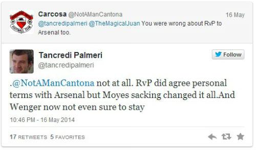 Van Persie đã đồng ý trở lại Arsenal khi MU khủng hoảng - 1