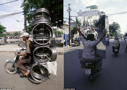 """Nhiếp ảnh gia """"Tây"""" ngỡ ngàng với xe máy ở Việt Nam - 6"""