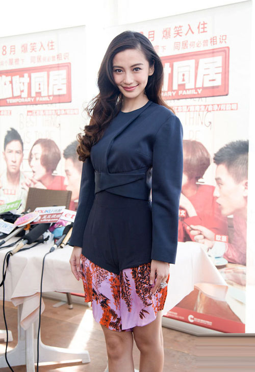 Angelababy không ngại sống với bố mẹ Huỳnh Hiểu Minh - 13