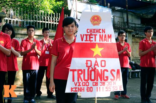 HS Kim Liên xếp hình đất nước, biển đảo Việt Nam - 8