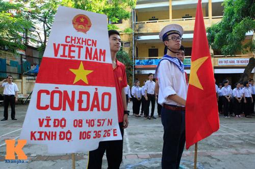 HS Kim Liên xếp hình đất nước, biển đảo Việt Nam - 7