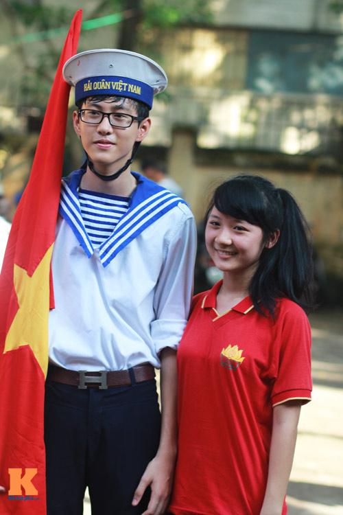 HS Kim Liên xếp hình đất nước, biển đảo Việt Nam - 17