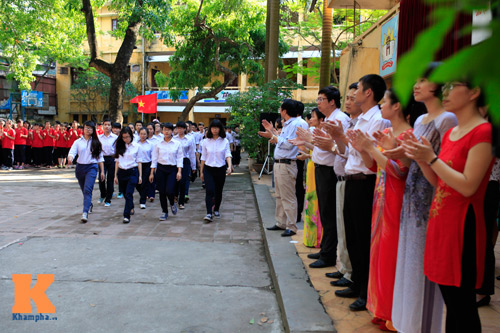 HS Kim Liên xếp hình đất nước, biển đảo Việt Nam - 14