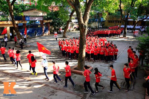 HS Kim Liên xếp hình đất nước, biển đảo Việt Nam - 13