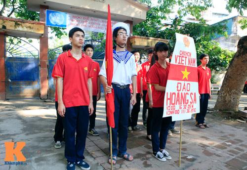 HS Kim Liên xếp hình đất nước, biển đảo Việt Nam - 5