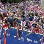 Bóng đá - Diễu hành mừng công, Atletico phủ đỏ Madrid