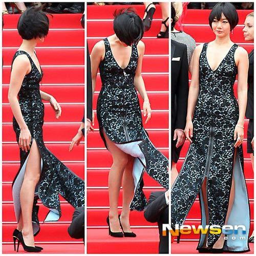 """Mỹ nhân Hàn Bae Doo Na bị cơn gió """"trêu đùa"""" - 1"""
