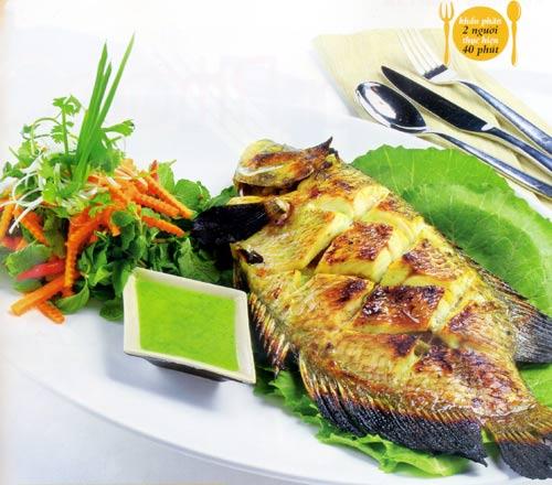 Cá nướng chấm muối ớt xanh - 1