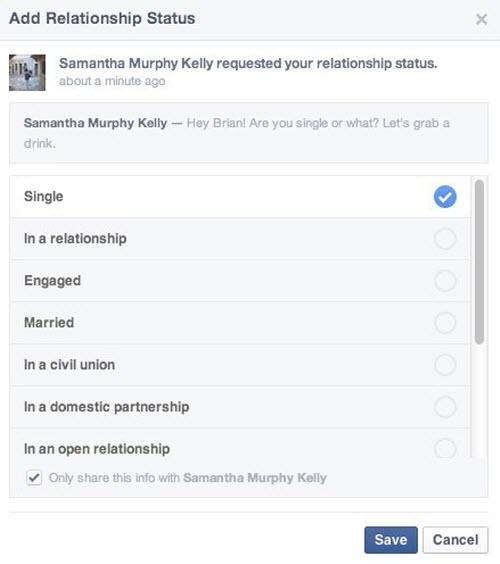 Facebook có tính năng hỏi về tình trạng hôn nhân - 3