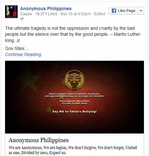 200 trang web của Trung Quốc bị hacker Philippines tấn công - 2