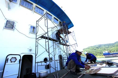 Liên tục phải sửa tàu Cảnh sát biển do tàu TQ đâm - 1
