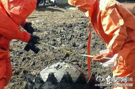 Ba quả cầu lửa khổng lồ rơi ở Trung Quốc - 2