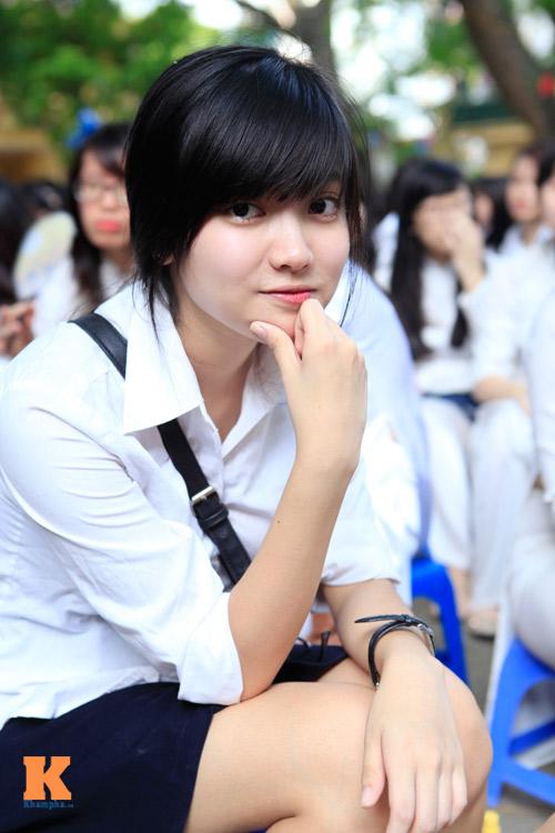 Nữ sinh Hà thành đọ vẻ xinh đẹp - 5