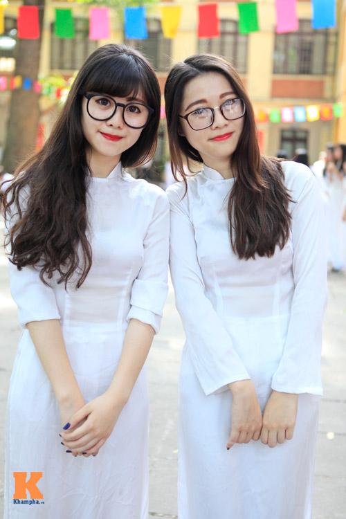 Nữ sinh Hà thành đọ vẻ xinh đẹp - 6