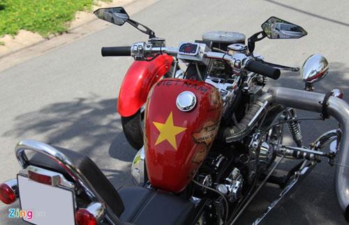 Harley-Davidson 3 bánh in hình quốc kỳ Việt Nam - 5