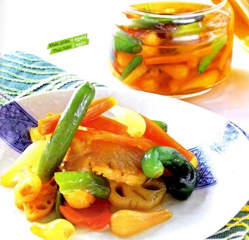 Bí quyết làm rau củ ngâm chua ngọt ngon đúng vị mà đơn giản - 1