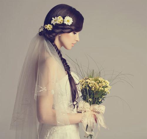 11 kiểu tóc đơn giản và tuyệt đẹp cho cô dâu - 9
