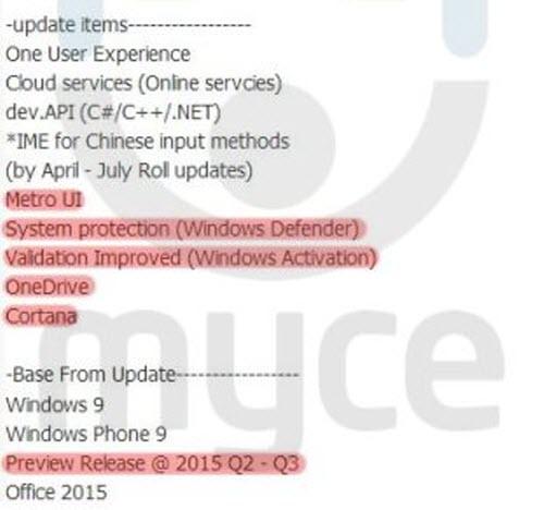 Windows 9 và Windows Phone 9 ra mắt giữa năm 2015 - 1