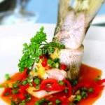 Ẩm thực - Bữa tối hấp dẫn với cá bống mú hấp hành gừng