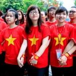 Bạn trẻ - Cuộc sống - Sinh viên Ngoại Thương xếp hình bản đồ Việt nam