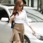 Thời trang - Nữ công sở đẹp và tiết kiệm hơn nhờ váy đuôi cá